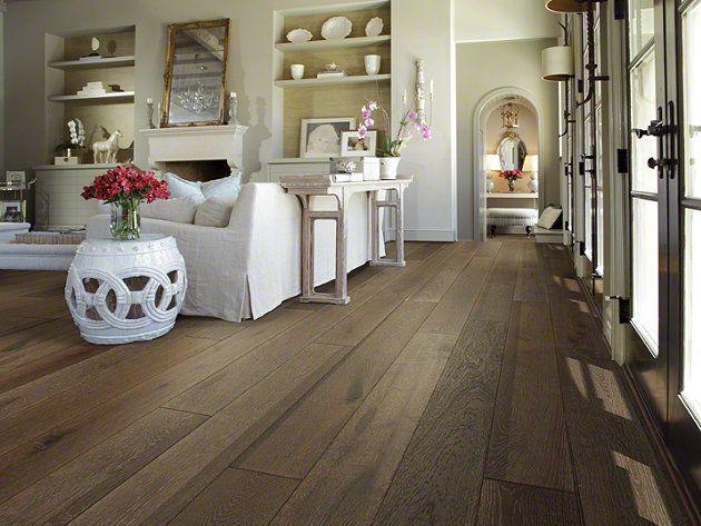 Hardwood Castlewood Oak - SW485 - Drawbridge - Flooring by Shaw. Living room