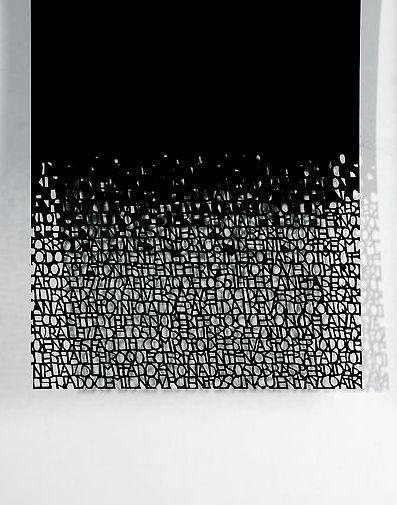 Pablo Lehmann | Dis Course (detail), 2012 | Cut-out paper