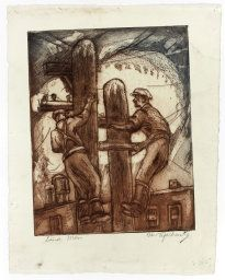 Morris Topchevsky (American, born Poland, 1899-1947) published by the Works Progress Administration, Line Men