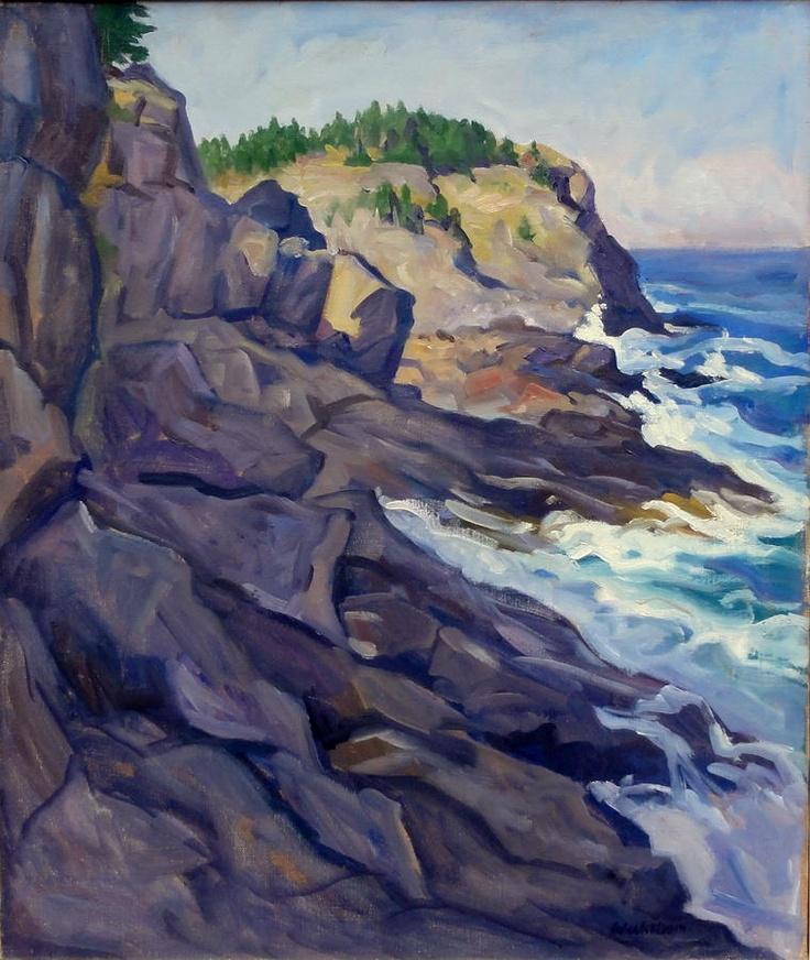 Monhegan Coast Painting  -  Rockwell Kent