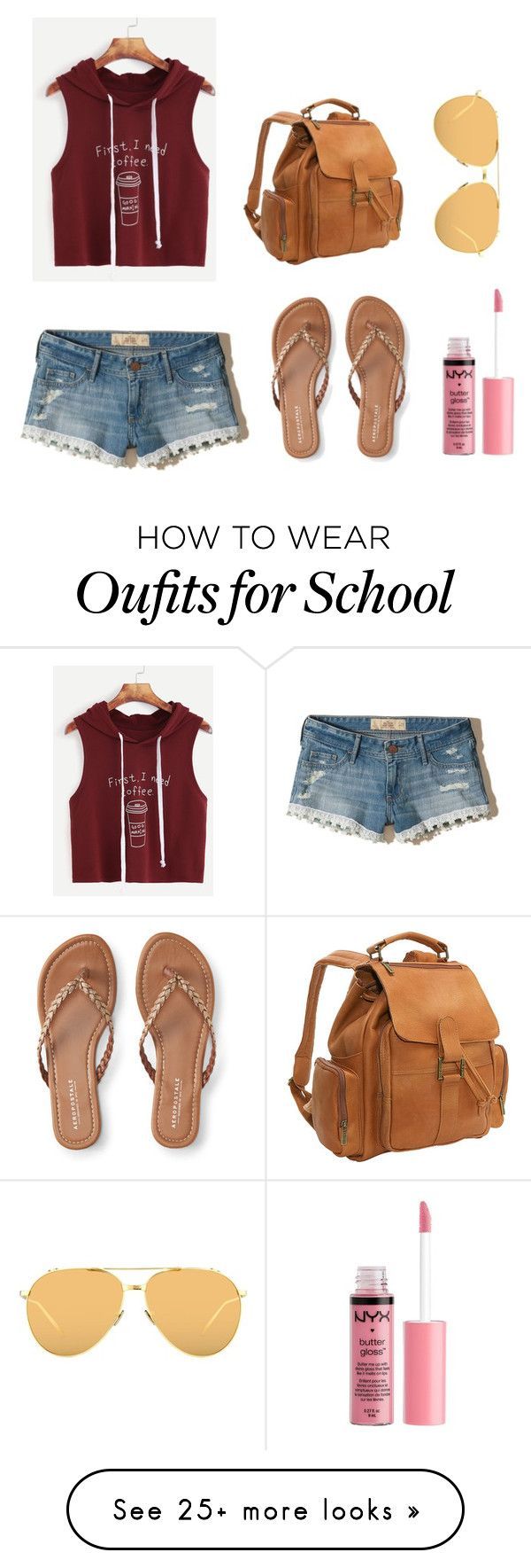 """""""Untitled #909"""" by spectrearcane on Polyvore featuring Hollister Co., Le Donne, Aéropostale, Linda Farrow and Charlotte Russe"""