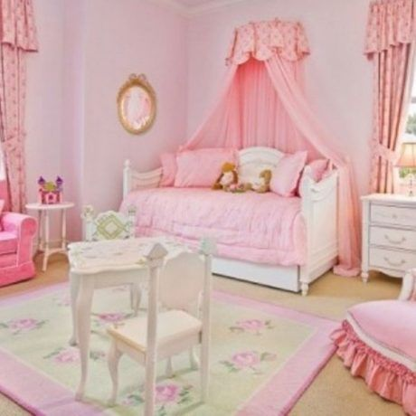 Bedroom : Wonderful Style Pink Wallpaper Girls Bedroom Also Pink Curtain Also White Wall As Well Glass Windows Ideas Bedroom Photo Inspiring Design Of Beautiful Teenage Bedroom Ideas - Pretty Girl Pink Bedroom Decoration Ideas