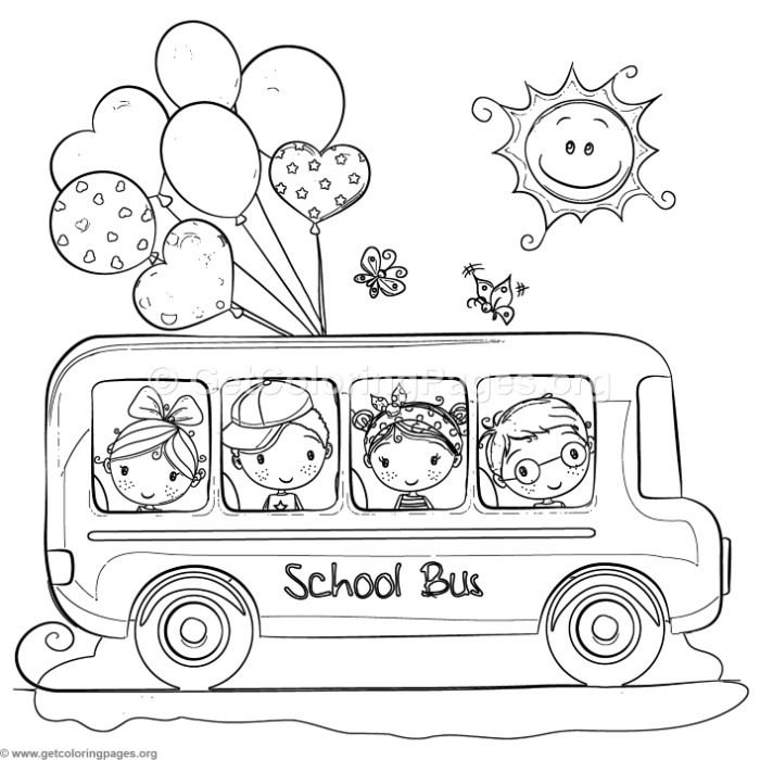Free Download Children School Bus Coloring Pages Coloring