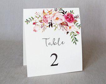 Kraft tabel nummers. Rustieke bruiloft tabel door LoveofCreating