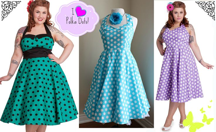 Crazy about Polka Dots -- Find these Plus Sizes from 1x -4x at www.SweetEchoPlus.com