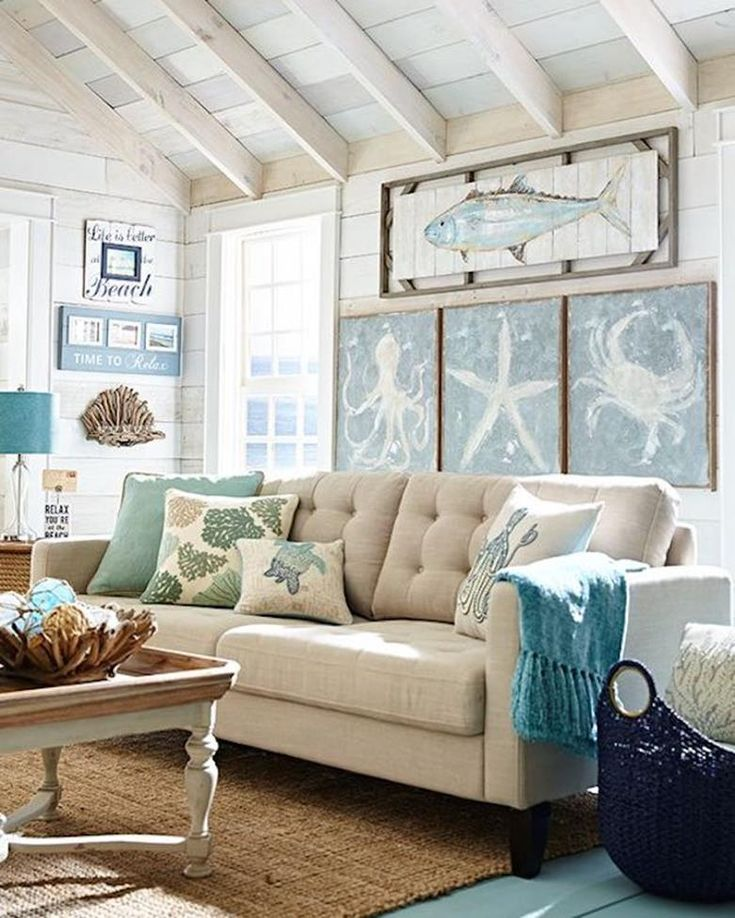 38 Ideas For Living Room: 38 Stunning Coastal Decorating Ideas For Living Rooms