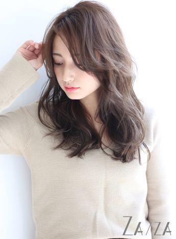 前髪長めの大人ロング(髪型ロング)