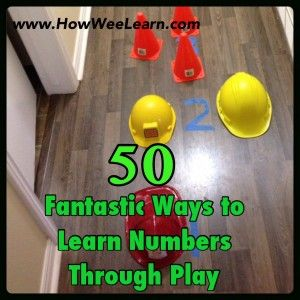 50 Playful activities that teach number recognition. Awesome learning through play ideas.