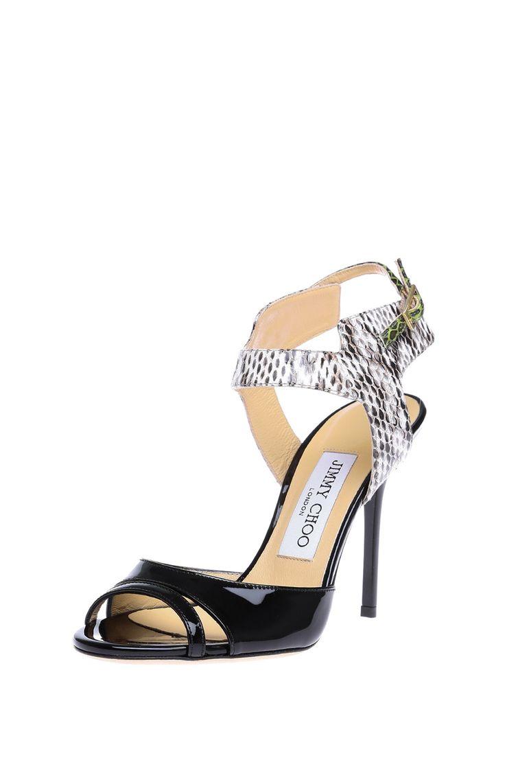 Комбинированные открытые босоножки на высоком каблуке с ремешком вокруг лодыжки http://oneclub.ua/bosonozhki-31932.html#product_option23