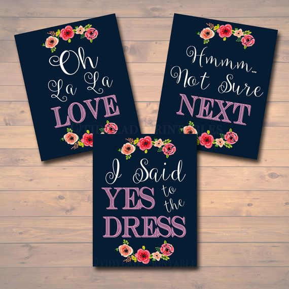 Yes To The Dress Paddle Game, Yes to the Dress Signs, INSTANT DOWNLOAD, Bridal…