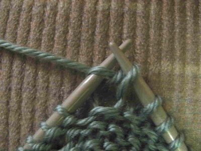 Almost complete a Knit stitch - leave old stitch on old needle Useful Knitt...