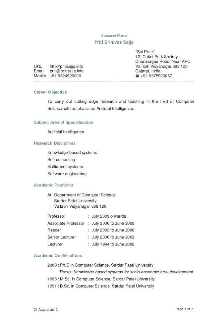 Resume For Lecturer Thrifdecorblog Teacher Resume Examples Teacher Resume Template Cv Template