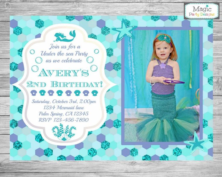 126 best mermaid party images on pinterest mermaid parties mermaid invitation mermaid photo invitation mermaid birthday invitation mermaid invite mermaid party filmwisefo Gallery