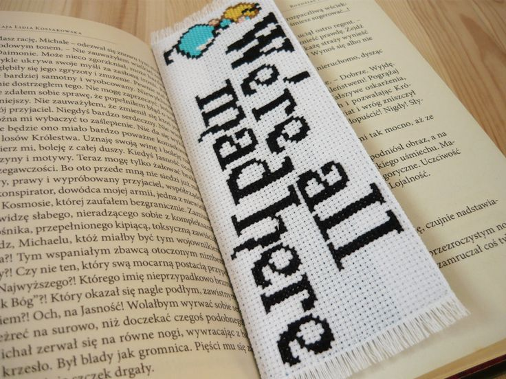 Cross stitch bookmark - Alice in Wonderland, embroidery bookmark, gift for…