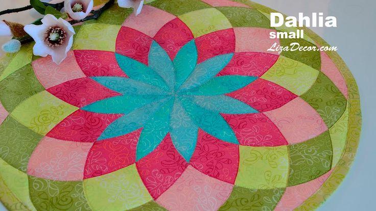 #patchwork #dahlia #jiřina #video #tutorial #lizadecor #vzory #pattern #šablony #pravítko #templates