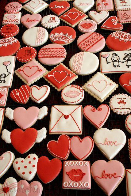 2012 Valentine Cookies. by navygreen, via Flickr