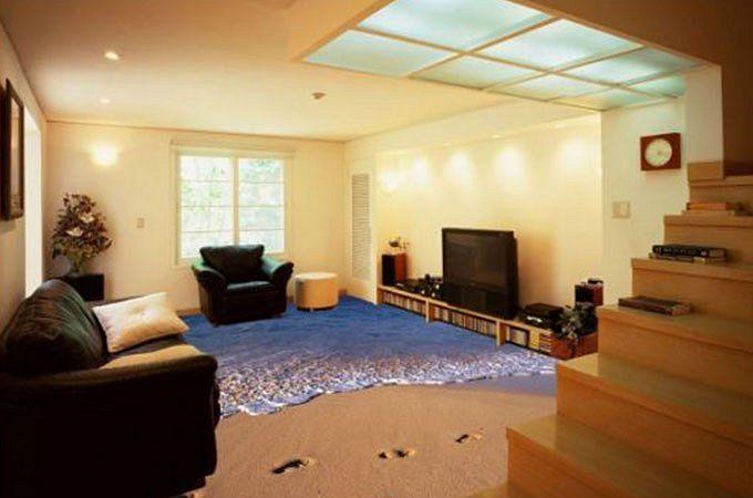 Písečná pláž u vás v obýváku? S těmito 3D podlahami ohromíte každou návštěvu