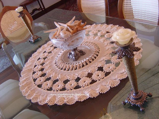 1000 images about crochet centro de mesa tapetes for Centro de mesa a crochet