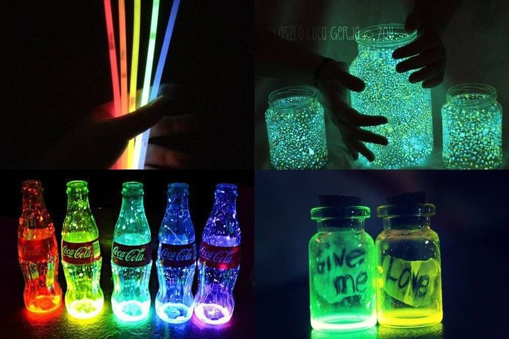 1. Get some glow sticks 2. Fold them so they start glowing and cut them in the middle with scissors  3. You pour the mixture in a container with a brush  *This is temporal so it doesn't last forever and you can use it as decoration in a party,...