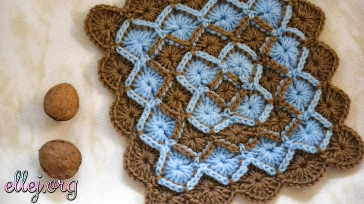 Баварское вязание крючком. Bavarian Crochet Stitch.