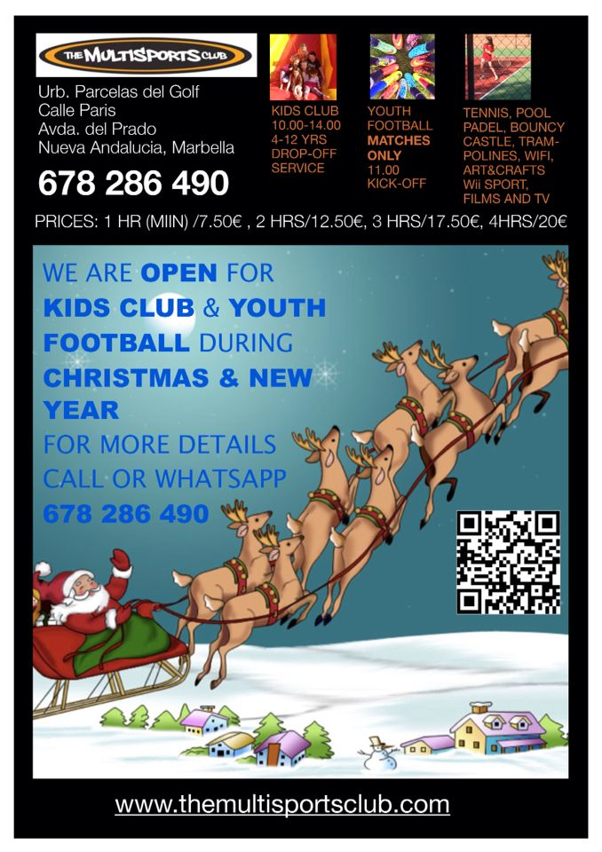 Xmas and New Year kids camp poster