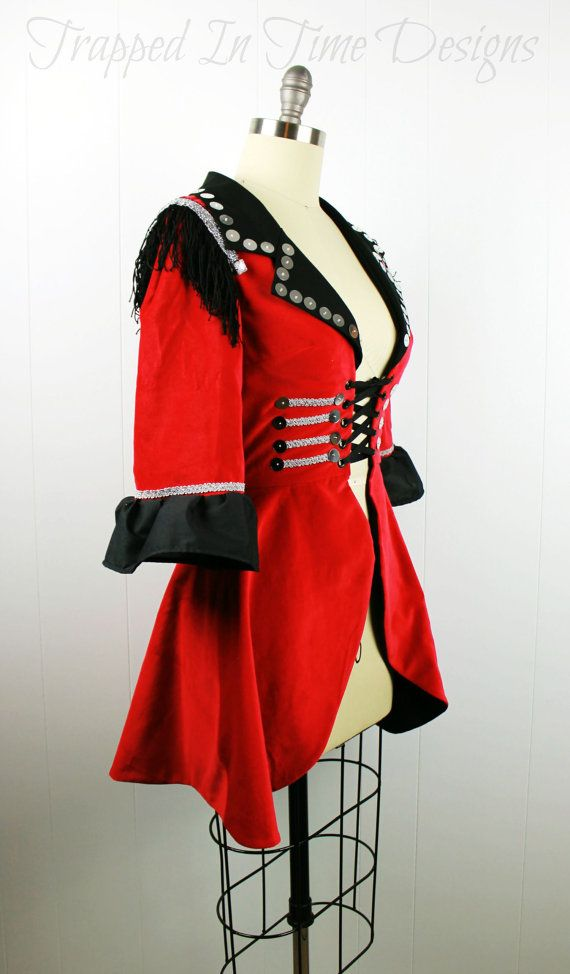 Ringmaster Costume Ringleader Costume by TrappedInTimeDesigns