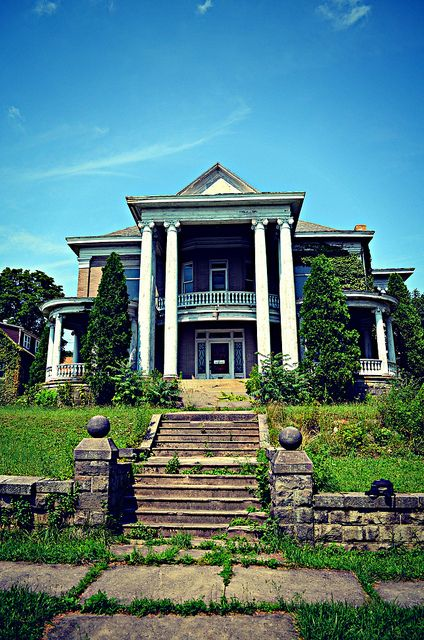 The abandoned mansion. Can you just imagine how beautiful this home could be with a little love?