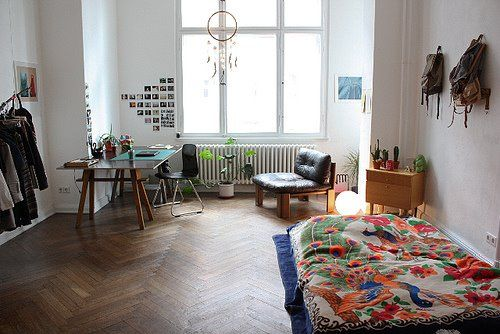 I like the idea of the bed being on the floor and having the dream catcher on the window