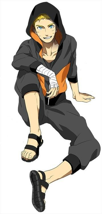 Okay, I can get used to the short hair ~ << Ikr? At first I didn't think the short hair look was very attractive on Naruto but then I saw this pic and watched Naruto: The Last ^\\\^