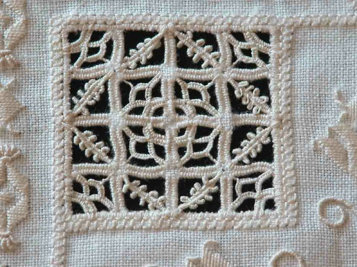 Detail from my Reticello and Punto Antico embroidery.