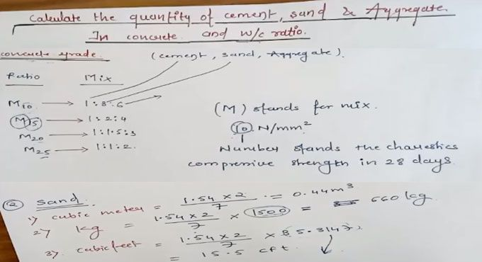 In this construction video tutorial you will learn how to work out the quantity of cement, sand and aggregate in concrete and water cement ratio.