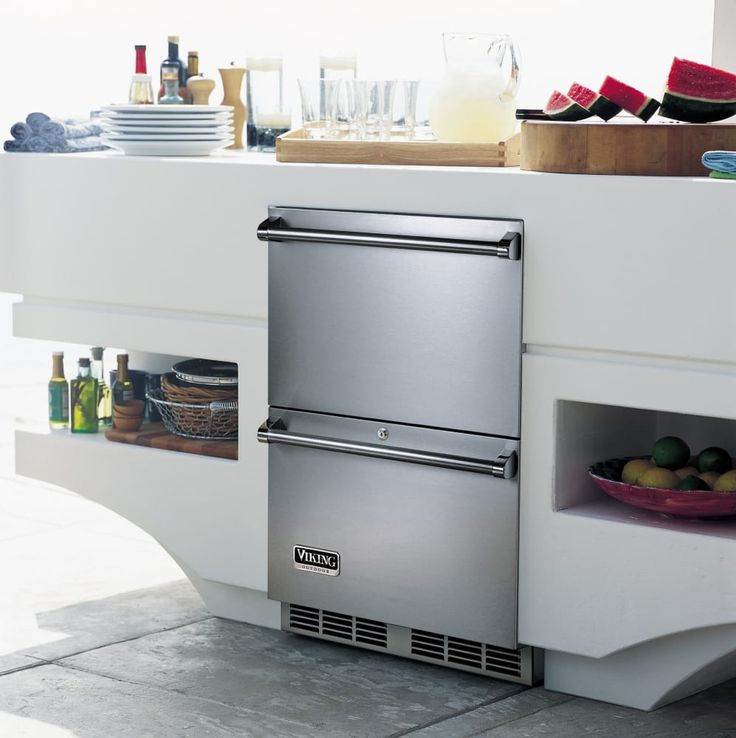 Two Drawer Outdoor Refrigerator
