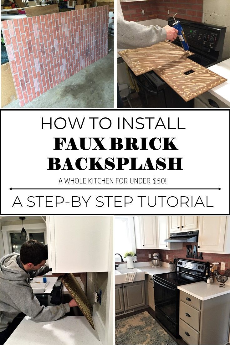 faux brick kitchen aid convection oven backsplash diy tutorial do it yourself pinterest joyful derivatives improvement easy project low cost