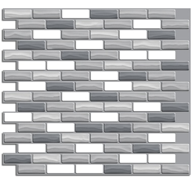 adhesive backsplash made to look like tile beautiful options 1199sheet - Ubahnaufkantung Grau