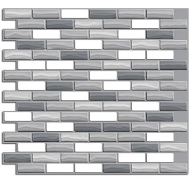 Adhesive backsplash made to look like tile.  Beautiful options.  $11.99/sheet.