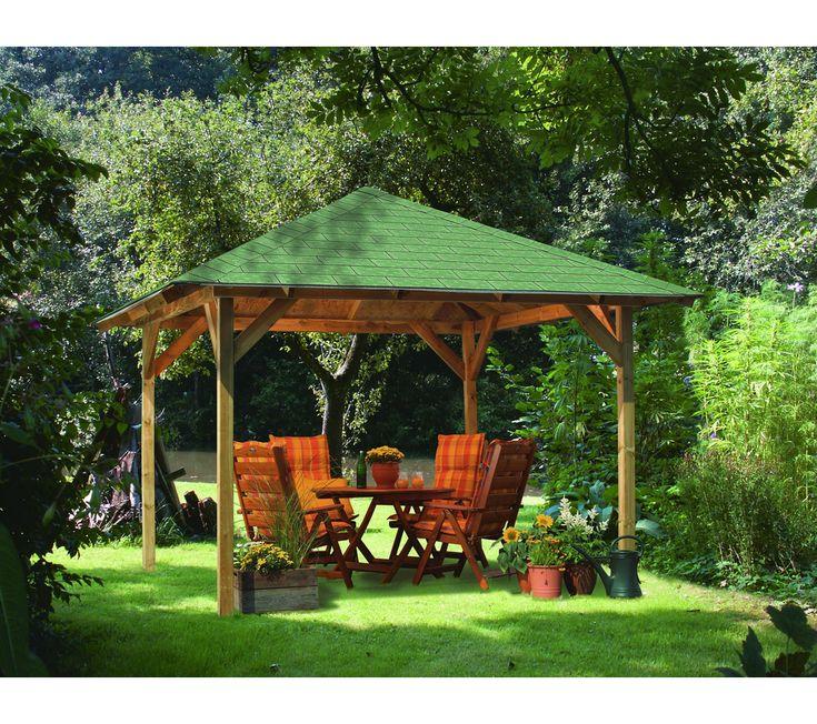 Karibu tonnelle cordoba en bois bons plans pas cher - Kiosque de jardin en bois pas cher ...