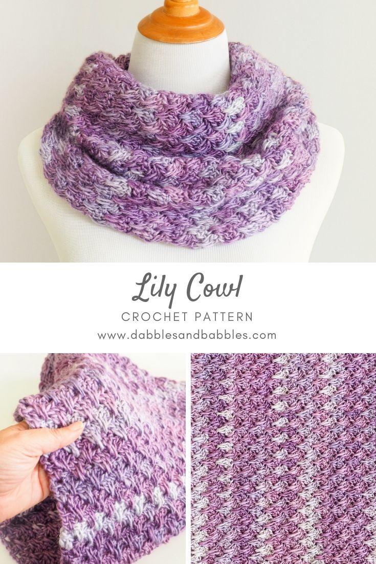 Lily Cowl Crochet Pattern Crochet Knit Scarf Cowl Patterns