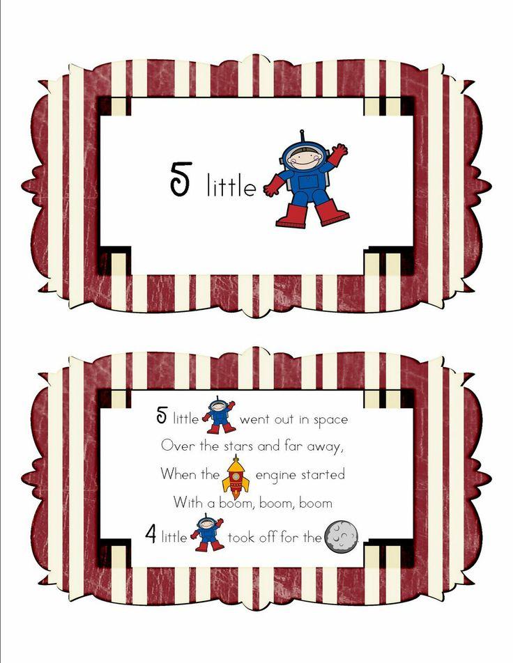 Rocket Songs For Preschoolers | i m a rocket space theme pre