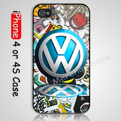 NEW Funny VW Sticker Bomb Custom iPhone 4 or 4S Case Cover   #phonecases #iphone #cases #hardcases  #iphone4 #NEW #Funny #VW #Sticker #Bomb
