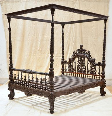 Anglo Indian Carved Bed In Mumbai, Maharashtra, India   COLLECTORS .