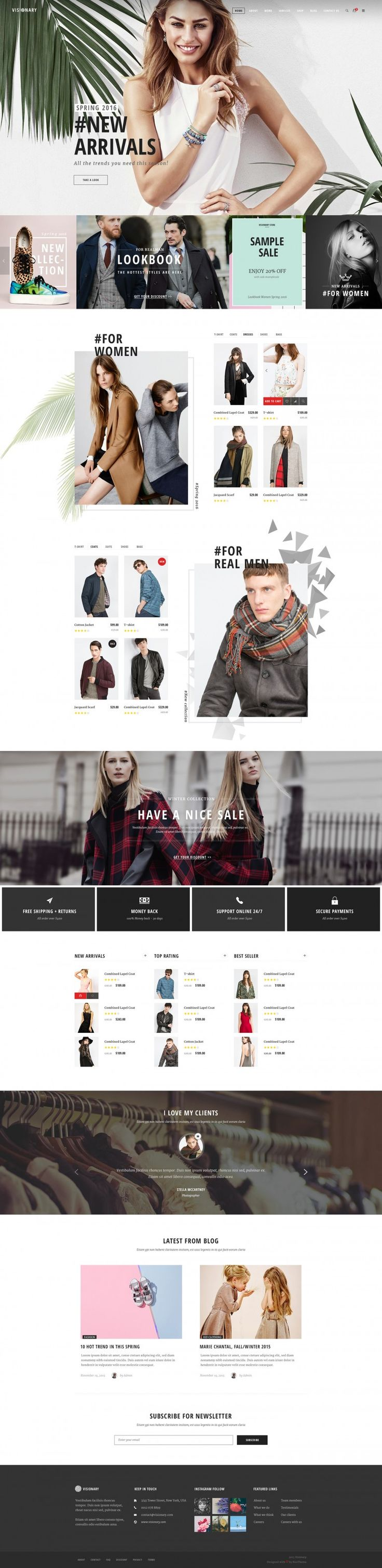 Visionary – eCommerce Shop on