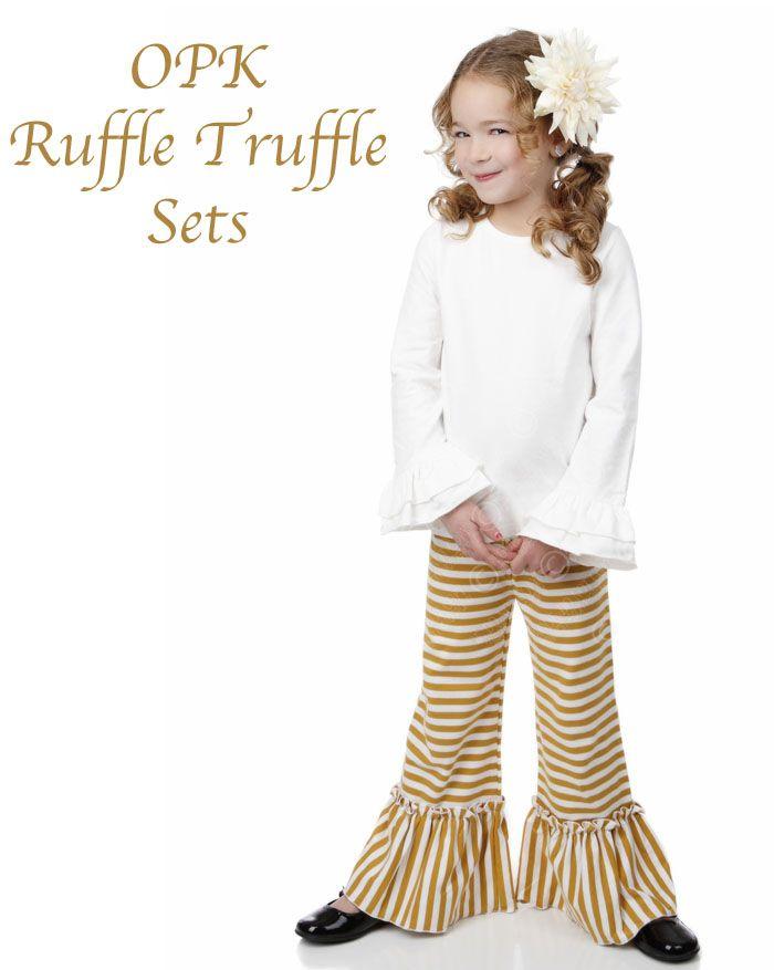 Ruffle Truffle Sets by One Posh Kid Fall 2014