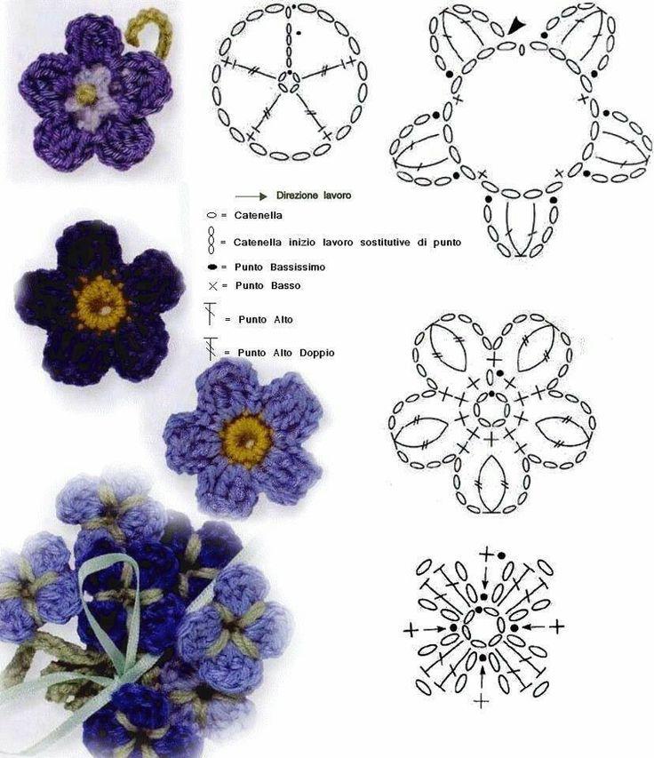 Mejores 23 imágenes de CROCHET Flores en Pinterest | Flores de ...