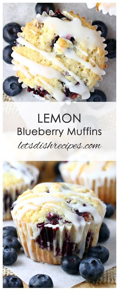 Lemon Blueberry Muffins with Lemon GlazeLemon Blueberry Muffins with Lemon Glaze Recipe | Blueberry lemon muffins are made extra special with a sweet and tangy lemon glaze.