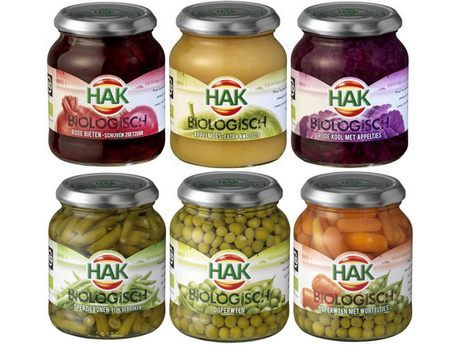 Hak producten (products) - I liked the appelmoes (apple sauce) and rode kool met appeltjes (red cabbage with little chunks of apple)... http://www.hak.nl/