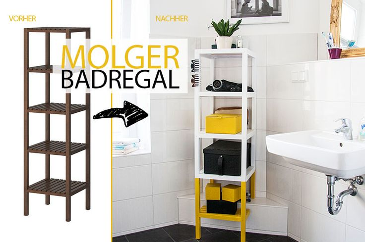 IKEA Molger bathroom shelf hack