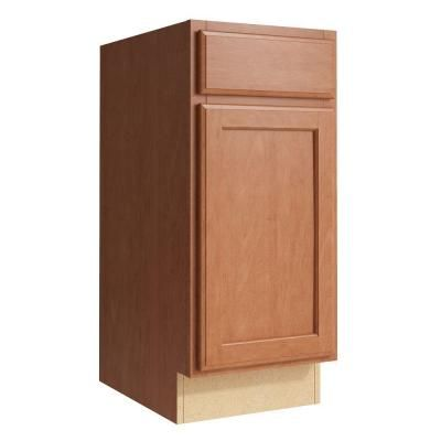Cardell Stig 15 in. W x 34 in. H Vanity Cabinet Only in Caramel-VB152134L.AD5M7.C68M - The Home Depot