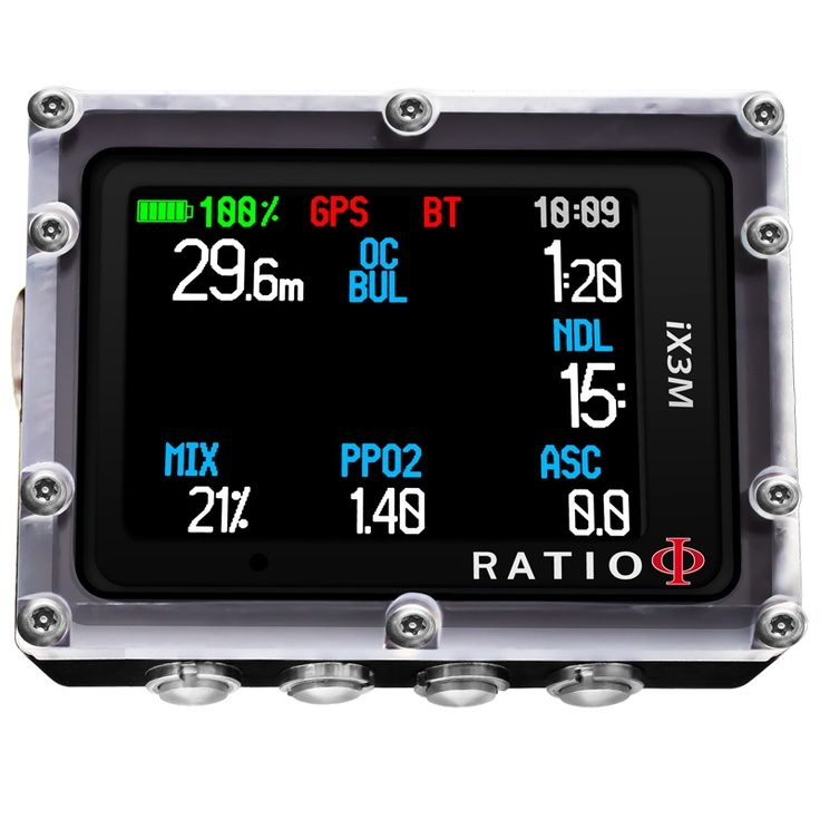 RATIO Tauchcomputer iX3M TECH  | Tauchcomputer RATIO | im TauchShop WASSERSPORTBILLIGER