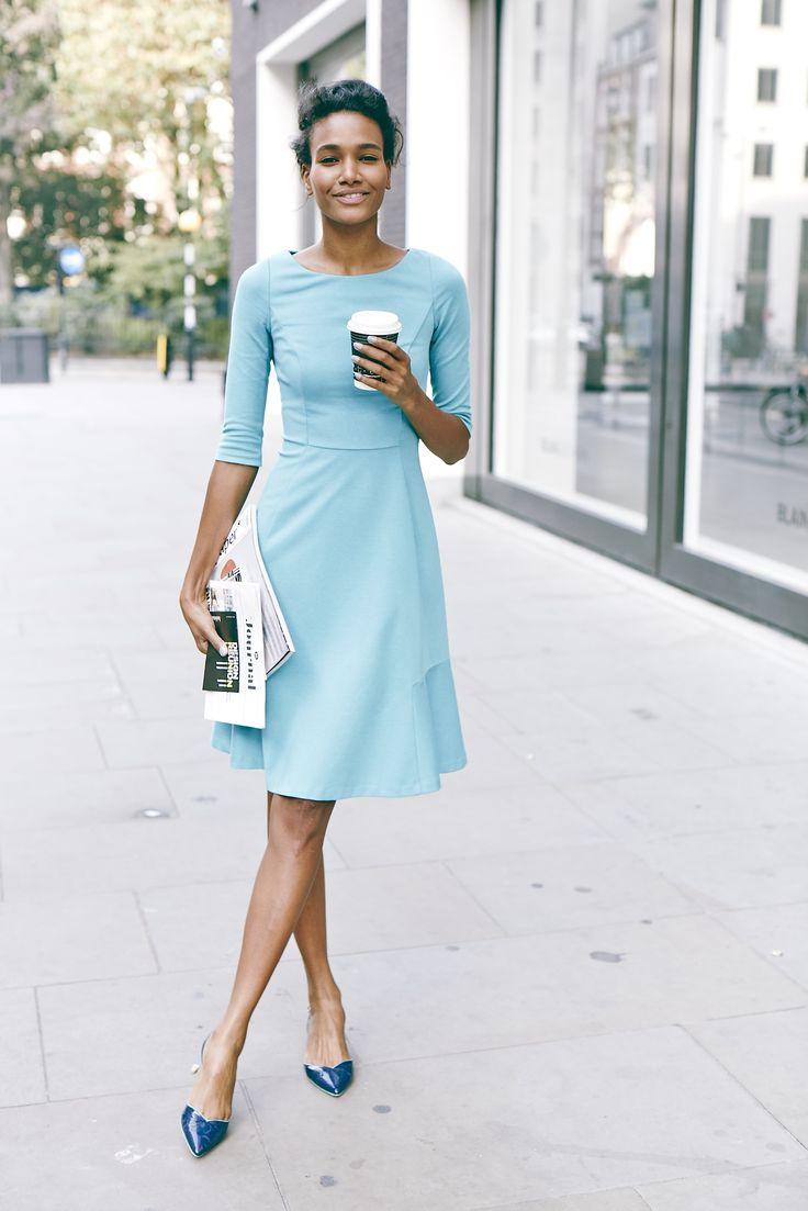 Gaaahhh adorable blue dress!  Boden Westminster Dress.
