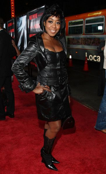 More Pics of Tichina Arnold Leather Dress (2 of 3) - Leather Dress Lookbook - StyleBistro